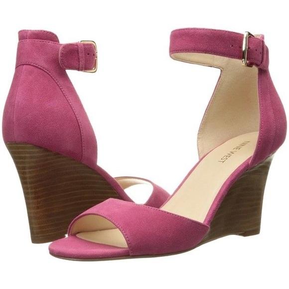 Nine West Hot Pink Farlee Sandals NWOT